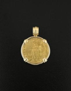 dutch ducat gold coin pendant