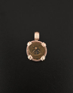 widows mite rose gold pendant