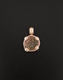 widows miite rose gold pendant