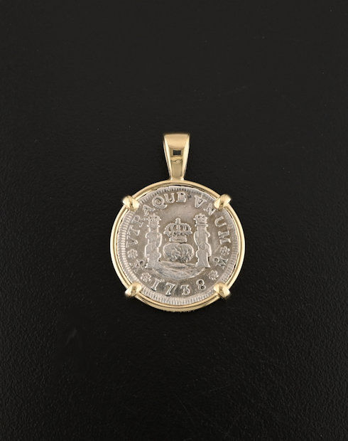 one real pillar coin pendant