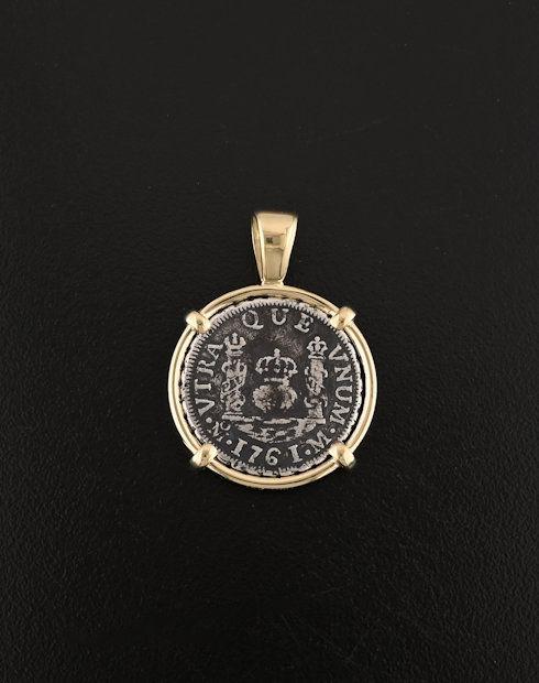 pillar one real coin pendant