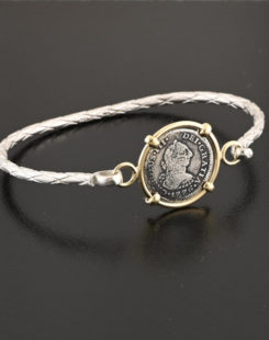 spanish half real coin bracelet