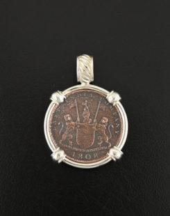 admiral gardner coin pendant
