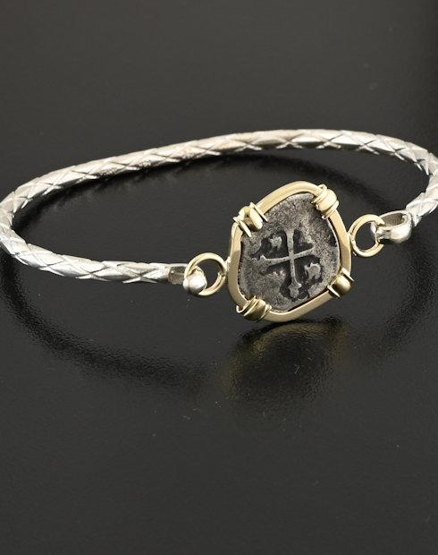 spanish half real coin bracelet