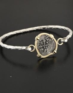 spanish half real cob coin bracelet