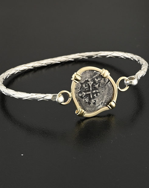 spanish half real cob coin bracelet