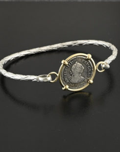 spanish bust half real coin bracelet