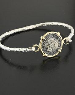 el cazador half real coin bracelet