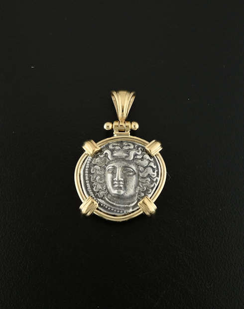 ancient greek coin pendant