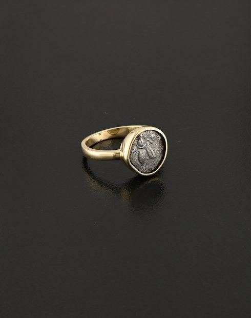 greek diobol coin ring