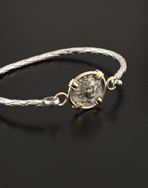 ancient greek hemidrachm coin pendant