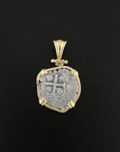 soanish one real cob coin pendant