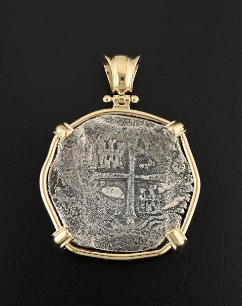 spice island shipwreck coin pendant