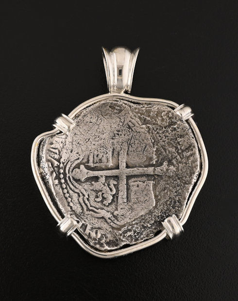 spice island shipwreck eight reales coin pendant