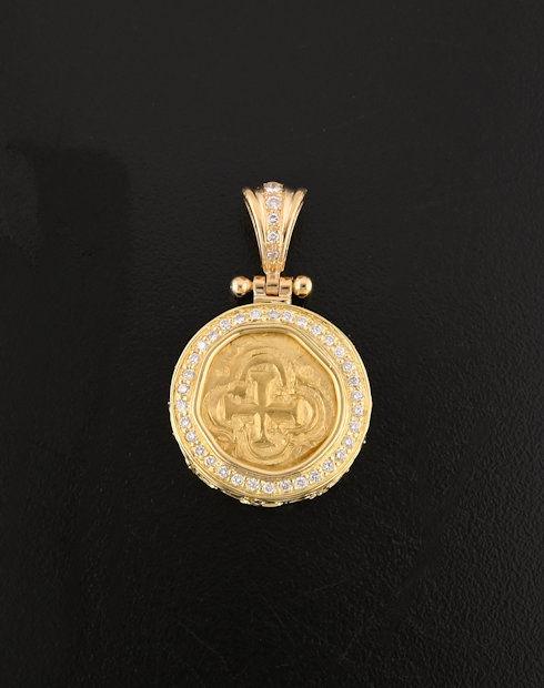 shipwreck one escudo coin pendant