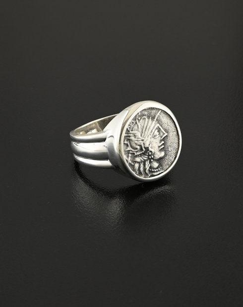 roman republic denarius coin ring