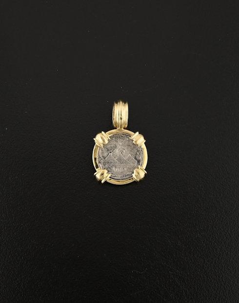 guatemalan one quarter coin pendant