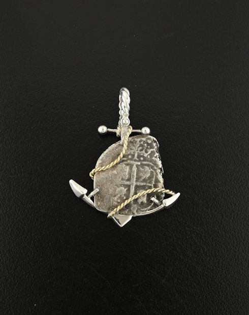 johanna shipwreck spanish one real coin pendant