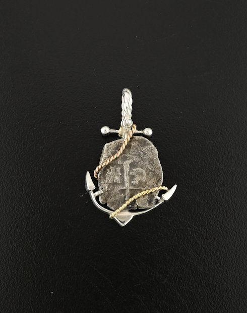 feversham shipwreck spanish one real coin pendant