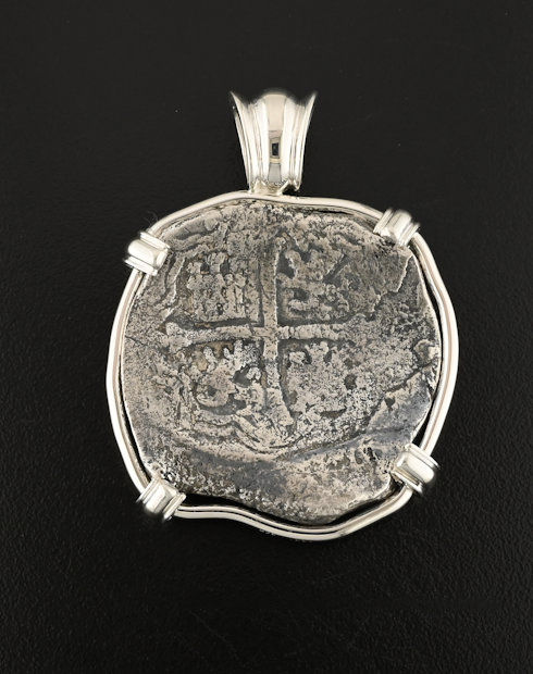 spice island wreck coin pendant