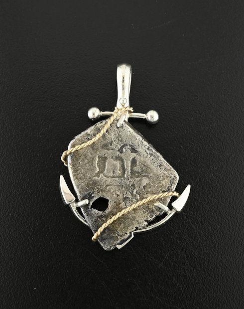 feversham shipwreck spanish four reales coin pendant